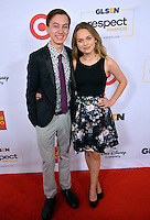 BEVERLY HILLS, CA. October 21, 2016: Actor Hayden Byerly &amp; actress Alyssa Jirrels at the 2016 GLSEN Respect Awards, honoring leaders iin the fight against bullying &amp; discrimination in schools, at the Beverly Wilshire Hotel.<br /> Picture: Paul Smith/Featureflash/SilverHub 0208 004 5359/ 07711 972644 Editors@silverhubmedia.com