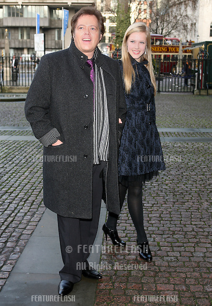 Jimmy Osmond and daughter Sophia arriving for Children Of Courage service, Westminster Abbey, London. 09/12/2009. Picture by:   Alexandra Glen / Featureflash