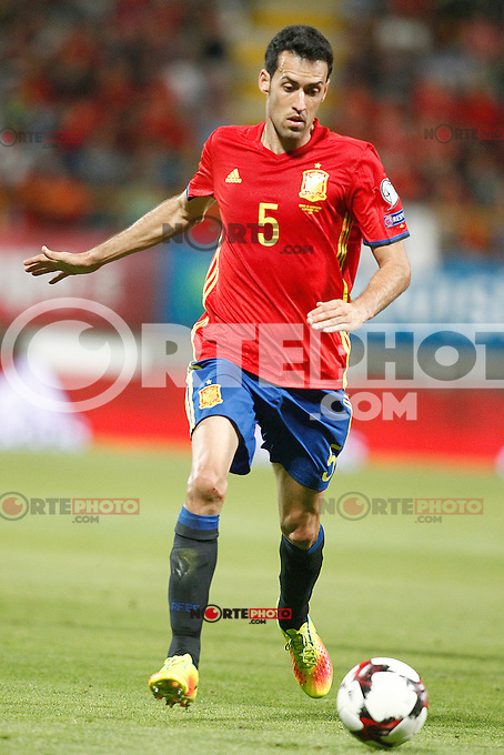 Spain's Sergio Busquets during FIFA World Cup 2018 Qualifying Round match. September 5,2016.(ALTERPHOTOS/Acero) /NORTEPHOTO