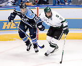 Mike Hamilton (University of Maine - Victoria, BC), Jeff Dunne (Michigan State - Grover, MO) - The Michigan State Spartans defeated the University of Maine Black Bears 4-2 in their 2007 Frozen Four semi-final on Thursday, April 5, 2007, at the Scottrade Center in St. Louis, Missouri.