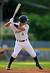 19 June 2008: Vermont Lake Monsters outfielder Michael Guerrero in action against the Oneonta Tigers at historic Centennial Field in Burlington, Vermont. The Tigers defeated the Lake Monsters 13-8 in the rubber match of their three-game season opening series in Vermont...Mandatory Credit: Ed Wolfstein Photo