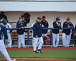 Ole Miss head coach Mike Bianco vs. North Carolina-Wilmington at Oxford-University Stadium in Oxford, Miss. on Saturday, February 25, 2012. Ole Miss won 6-4.