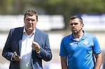 St Johnstone v Real Sociadad...12.07.15  Bayview, Methil (Home of East Fife FC)<br /> Saints boss Tommy Wright and assistant Callum Davidson pictured before kick off<br /> Picture by Graeme Hart.<br /> Copyright Perthshire Picture Agency<br /> Tel: 01738 623350  Mobile: 07990 594431