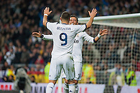Goal of Ozil and celebration with Benzema