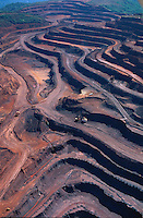 Aerial view of Carajas iron mine in Amazon rainforest in Para State, Brazil.