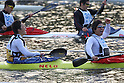 (L to R) Koki Miura, Kazuki Otsuki, .MARCH 28, 2012 - Canoeing : .2012 International Canoeing Competitions Selection Trial & The 22th Fuchuko Canoe Regatta, .Men's Junior Kayak Double 200m at Lake Fuchu, Kagawa Japan. (Photo by Akihiro Sugimoto/AFLO SPORT) [1080]