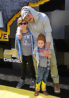 Clayne Crawford &amp; Children at the world premiere of &quot;The Lego Batman Movie&quot; at the Regency Village Theatre, Westwood, Los Angeles, USA 4th February  2017<br /> Picture: Paul Smith/Featureflash/SilverHub 0208 004 5359 sales@silverhubmedia.com