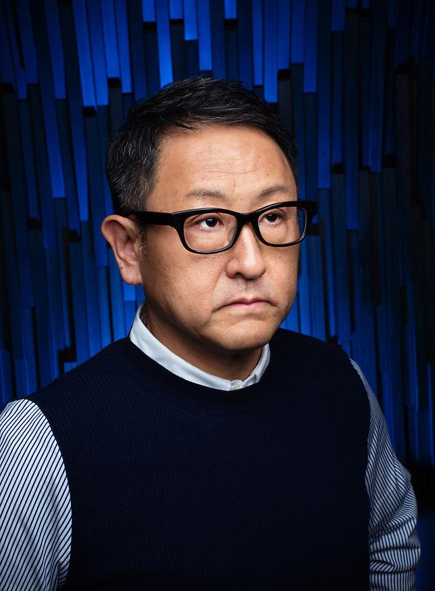 Akio toyoda of toyota motor corp ko sasaki for Toyota motor corporation address