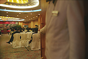 A Writers Train seminar at the Garden Hotel in Guangzhou, as part of the Think UK Writers Train project. The Think UK China Writers Train is a project, in collaboration with the British Council, to take 4 UK writers/poets and 4 Chinese writers/poets around China by train visiting 6 major cities, in 17 days, to hold talks, seminars and readings of their work.