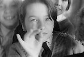 Posing for the camera, Whitworth Comprehensive School, Whitworth, Lancashire.  1970.
