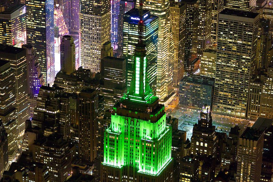 Green Neon Building