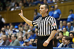 01 February 2016: Referee Joseph Vaszily. The Duke University Blue Devils hosted the University of Notre Dame Fighting Irish at Cameron Indoor Stadium in Durham, North Carolina in a 2015-16 NCAA Division I Women's Basketball game. Notre Dame won the game 68-61.