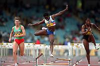 Pix:Michael Steele/SWpix... Athletics. 100m Hurdles, Birmingham, 1994...COPYRIGHT PICTURE>>SIMON WILKINSON..!00m Hurdles, Birmingham.