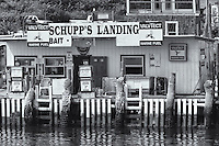 Boat rentals, Valvtect marine fuel, and bait and tackle are sold at Schupp's Landing, Highlands, New Jersey