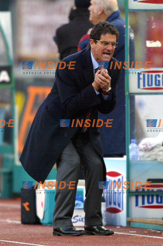 Roma 25/1/2004 <br /> Roma Udinese 1-1 <br /> Fabio Capello, AS Roma trainer<br /> Foto Andrea Staccioli Insidefoto