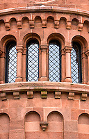 Smithsonian Castle Washington DC<br /> <br /> The Smithsonian Castle, located on the National Mall in Washington, D.C Nicknamed The Castle it was designated a National Historic Landmark in 1965. With multiple, rounded and curved towers, and massive, red sandstone masonry, the Castle serves as a stunning example of Romanesque style that is preserved as the oldest building on the National Mall. The Smithsonian Castle, located on the National Mall in Washington, D.C Nicknamed The Castle it was designated a National Historic Landmark in 1965. With multiple, rounded and curved towers, and massive, red sandstone masonry, the Castle serves as a stunning example of Romanesque style that is preserved as the oldest building on the National Mall.
