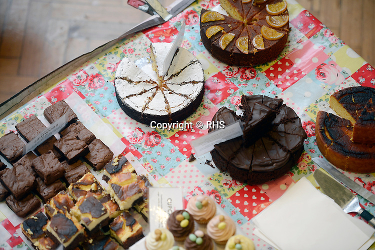 Cake for sale at an RHS Secret Garden Sunday.