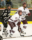Kyle Maggard (Army - 27), Nick Prockow (Colgate - 21), Mike Leidl (Colgate - 22) - The host Colgate University Raiders defeated the Army Black Knights 3-1 in the first Cape Cod Classic on Saturday, October 9, 2010, at the Hyannis Youth and Community Center in Hyannis, MA.