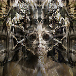 A conceptual image of a face with missing eyes