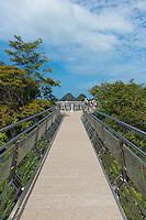 Suspension bridge walkway on the top of Mount Mat Cincang. Langkawi, Kedah, Malaysia