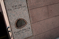 The Cornerstone is pictured by the central headquarters of the Chabad-Lubavitch Hasidic movement in the Crown Heights neighborhood of the the New York City borough of Brooklyn, NY, Monday August 1, 2011. One of the world's larger and best-known Hasidic movements, Chabad-Lubavitch is a Hasidic movement in Orthodox Judaism