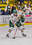 13 February 2015: University of Vermont Catamount Forward Dayna Colang, a Junior from Fairbanks, Alaska, in third period action against the University of New Hampshire Wildcats at Gutterson Fieldhouse in Burlington, Vermont. The Lady Catamounts fell to the visiting Wildcats 4-2 in the first game of their weekend Hockey East series. Mandatory Credit: Ed Wolfstein Photo *** RAW (NEF) Image File Available ***