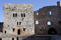 Courtyard, Krak des Chevaliers, Qala'at al-Husn, Crusader castle, 1110-1271, Homs Gap, Syria Picture by Manuel Cohen
