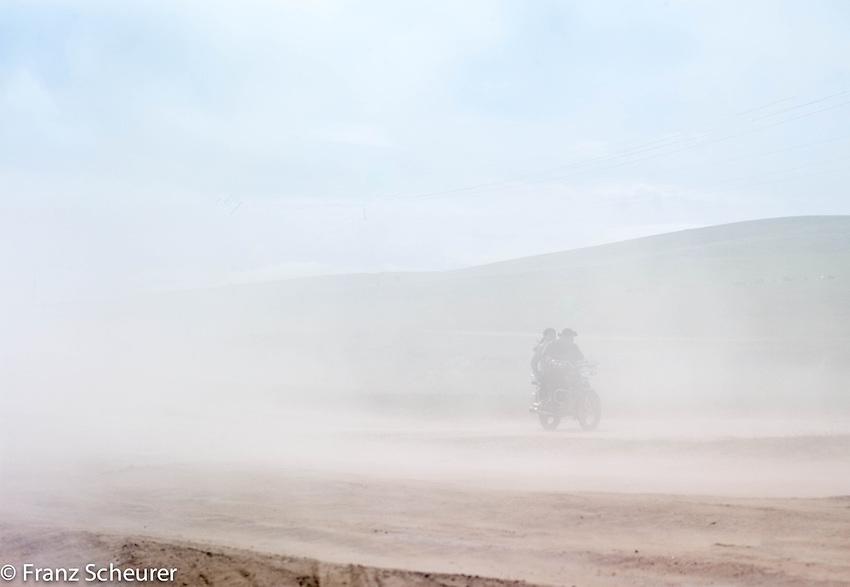 Heavy traffic in Mongolia