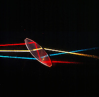 REFLECTION &amp; REFRACTION OF LIGHT<br /> Three Light Beams Incident On Biconvex Lens<br /> Part of the beams are reflected and part refracted into the glass. The refracted beams are partially reflected and partially refracted at opposite glass-air surface.