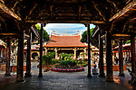 View of Longshan Temple's main pavilion from front pavilion, Lugang, Changhua County, Taiwan