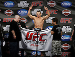 October 23, 2009; Los Angeles, CA; USA;  Gleison Tibau weighs-in for his bout against Josh Neer.  The two will meet tomorrow night at UFC 104 at the Staples Center in Los Angeles, CA.