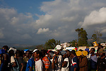 The day's second line for food forms at the Pechinat tent camp in Jacmel. The World Food Programme says it serves over 8,400 meals a day here. The 7.0 earthquake that devastated parts of Haiti on January 12 killed hundreds of thousands of people. January's earthquake killed hundreds of thousands of people and caused significant and lasting structural and economic damage in the Caribbean nation.