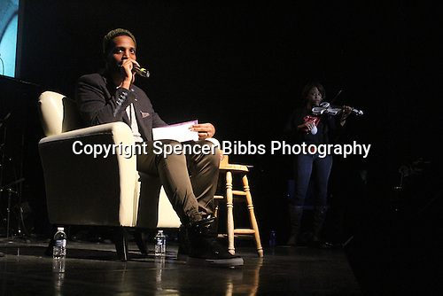 "Poet and performer J Ivy performed pieces from his new book, ""Dear Father: The Book"" Sunday evening at the DuSable Museum located at 740 E. 56th Place."