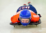 17 December 2010: Anne O'Shea sliding for the USA, finishes in 10th place at the Viessmann FIBT Skeleton World Cup Championships in Lake Placid, New York, USA. Mandatory Credit: Ed Wolfstein Photo