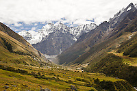 The Valley of Flowers - a famous national park in the Garhwal Himalayas