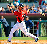 2 March 2009: Houston Astros' second baseman Matt Kata at bat during a Spring Training game against the New York Yankees at Osceola County Stadium in Kissimmee, Florida. The teams played to a 5-5, 9-inning tie. Mandatory Photo Credit: Ed Wolfstein Photo