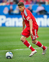 22 May 2010: Toronto FC defender Adrian Cann #12 in action during a game between the New England Revolution and Toronto FC at BMO Field in Toronto..Toronto FC won 1-0.....