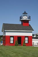 Lighthouse relocated shore in Douglas near Saugatuck Michigan