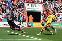 Burnley's Scott Arfield has a shot at goal<br /> <br /> Photographer Ian Cook/CameraSport<br /> <br /> The Premier League - Bournemouth v Burnley - Saturday 13th May 2017 - Vitality Stadium - Bournemouth<br /> <br /> World Copyright &copy; 2017 CameraSport. All rights reserved. 43 Linden Ave. Countesthorpe. Leicester. England. LE8 5PG - Tel: +44 (0) 116 277 4147 - admin@camerasport.com - www.camerasport.com