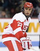 Sahir Gill (BU - 28) - The Boston University Terriers defeated the visiting Harvard University Crimson 5-2 on Saturday, January 15, 2011, at Agganis Arena in Boston, Massachusetts.