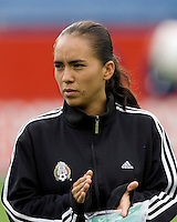Mexico's Monica Ocampo during the team presentation. USA women's national team defeated Mexico 5-0 at Gillette Stadium in Foxborough MA on April 14, 2007