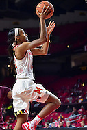 College Park, MD - NOV 16, 2016: Maryland Terrapins guard Shatori Walker-Kimbrough (32) goes up for a lay up during game between Maryland and Maryland Eastern Shore Lady Hawks at XFINITY Center in College Park, MD. The Terps defeated the Lady Hawks 106-61. (Photo by Phil Peters/Media Images International)