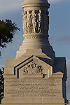 The Victory Monument on the Yorktown Battlefield (American Revolution) Yorktown and the Colonial Parkway, Yorktown, Virginia
