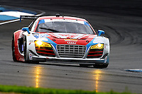 #35 Audi, Seth Neiman, Dion von Moltke, Brickyard Grand Prix, Indianapolis Motor Speedway, Indianapolis, Indiana, July 2014.  (Photo by Brian Cleary/www.bcpix.com)