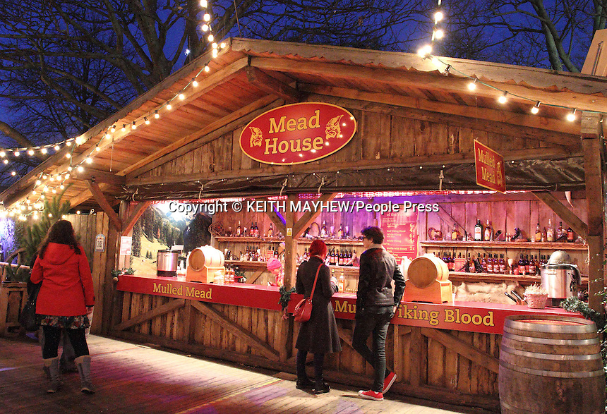 Traditional European style Christmas Markets - All the Fun of the Fair - Ice Skating -  Music - Beer - Food - that is Winter Wonderland at Jyde Park, London - December 30th 2013<br /> <br /> Photo by Keith Mayhew