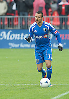 20 October 2012: Montreal Impact defender Dennis Iapichino #17 in action during an MLS game between the Montreal Impact and Toronto FC at BMO Field in Toronto, Ontario..The game ended in a 0-0 draw..