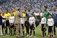 Sporting Park, Kansas City, Kansas, July 31 2013:<br /> Commissioner Don Garber introduced to the players.<br /> MLS All-Stars were defeated 3-1 by AS Roma at Sporting Park, Kansas City, KS in the 2013 AT &amp; T All-Star game.