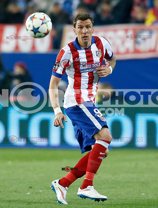 Atletico de Madrid's Mario Mandzukic during Champions League 2014/2015 match.March 16,2015. (ALTERPHOTOS/Acero) /NORTEphoto.com