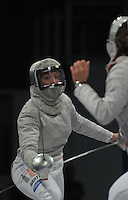 European Championships Fencing 2010 / Fecht Europameisterschaft 2010 in Leipzig - Competition Championat d'europe - im Bild: women sabre - Sibylle KLEMM (GER) aigainst Sophia VELIKAIA (RUS,right). Foto: Norman Rembarz..Norman Rembarz , Autorennummer 41043728 , Augustenstr. 2, 04317 Leipzig, Tel.: 01794887569, Hypovereinsbank: BLZ: 86020086, KN: 357889472, St.Nr.: 231/261/06432 - Jegliche kommerzielle Nutzung ist honorar- und mehrwertsteuerpflichtig! Persönlichkeitsrechte sind zu wahren. Es wird keine Haftung übernommen bei Verletzung von Rechten Dritter. Autoren-Nennung gem. §13 UrhGes. wird verlangt. Weitergabe an Dritte nur nach  vorheriger Absprache..