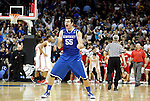Josh Harrellson celebrates UK's Sweet 16 NCAA tournament win, 62-60 against 1 seed Ohio State at the Prudential Center in Newark, New Jersey on Friday, March 25, 2011.  Photo by Britney McIntosh | Staff